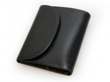 S1058 SMALL 3FOLD WALLET / BRIDLE / BLACK