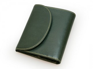 S1058 SMALL 3FOLD WALLET / BRIDLE / GREEN