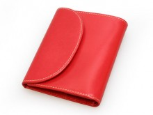 S1058 SMALL 3FOLD WALLET / BRIDLE / RED